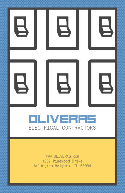 Electrical Contractors Flyer Template 725a