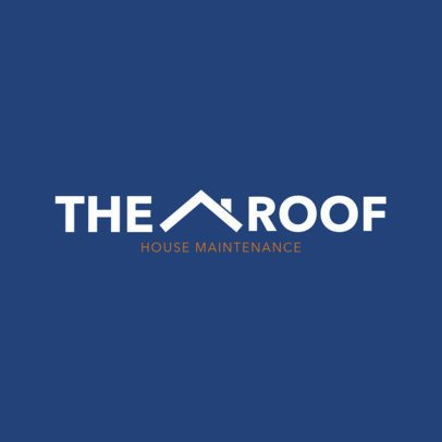 Roof and House Maintenance Logo Template 1483
