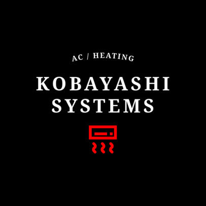 Air Conditioner and Heating Installation Logo Maker 1503b