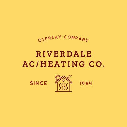 Local HVAC Business Logo Maker 1503e