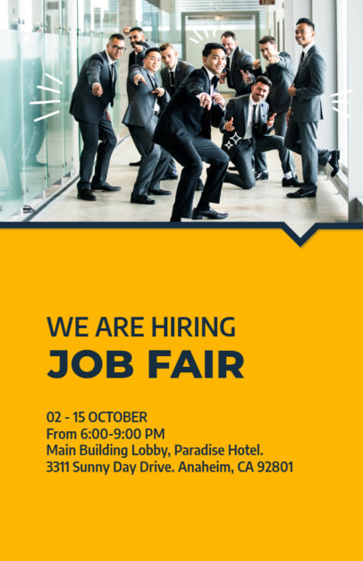 Flyer Design Template for Job Fair 713b