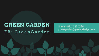 Garden Design Business Card Template 648b