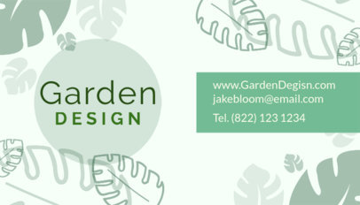 Business Card Maker for a Garden Design Company 648e