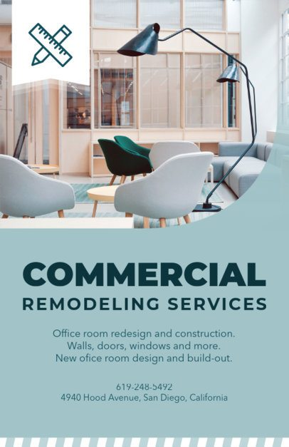 Commercial Remodeling Contractors Flyer Maker 714a