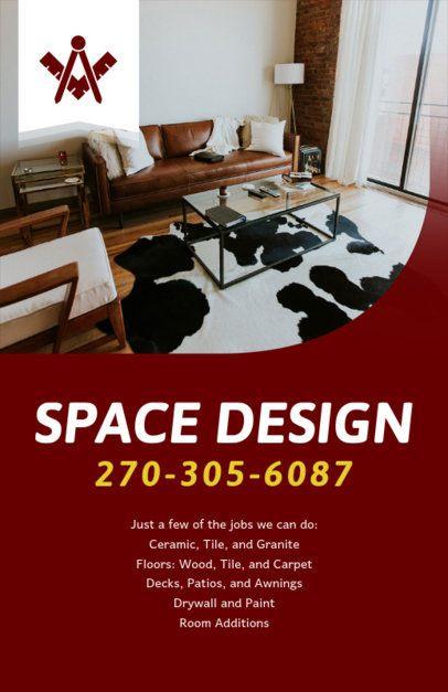 Remodel Design Services Flyer Maker 714c
