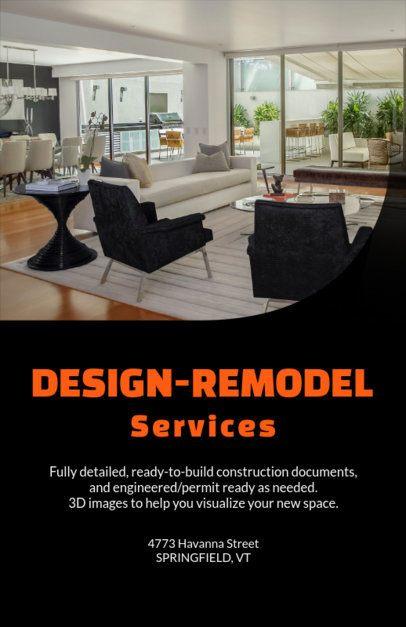 Flyer Maker for a Remodel Design Services Company 714e