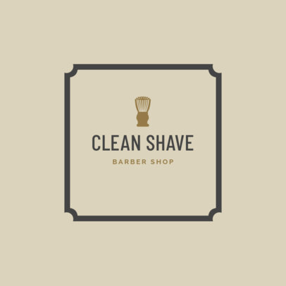 Barber Shop Logo Maker with Shaving Brush Icon 1479b