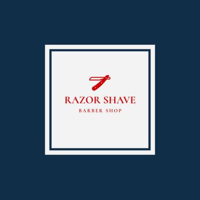 Barber Shop Logo Template for a Straight Razor Shave Barber 1479d