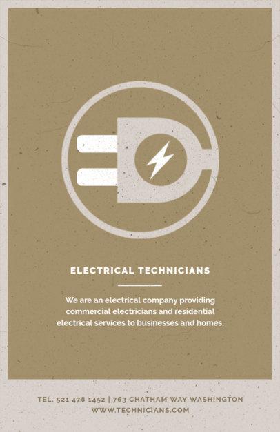 Electrical Tech Flyer Design Template 711b