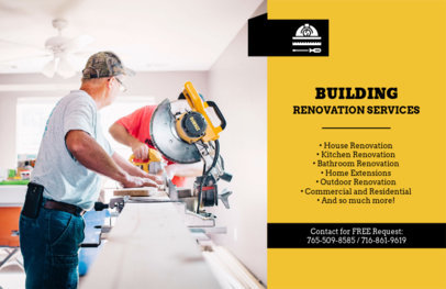 Renovation Services Flyer Design Maker 722e