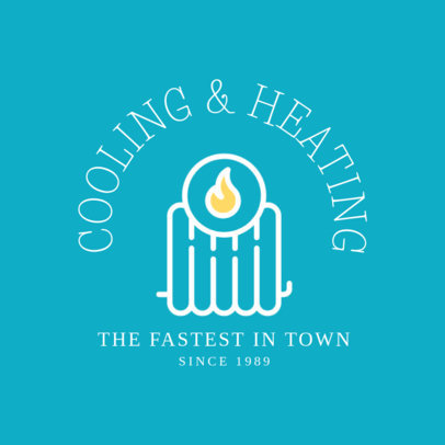 Cooling and Heating Company Logo Template 1505e