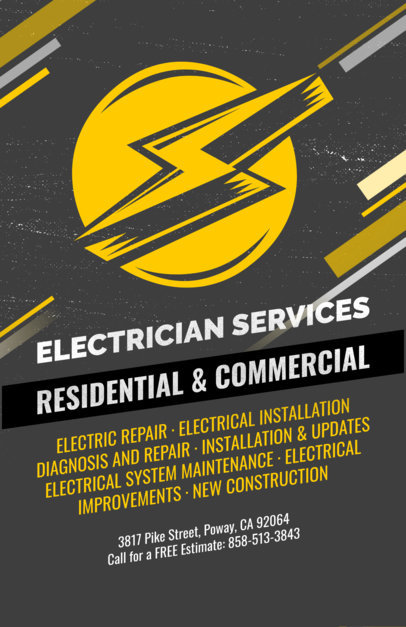 Electrician Flyer Maker 728