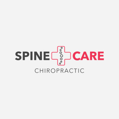 Logo Maker for Spine Care Center 1490d
