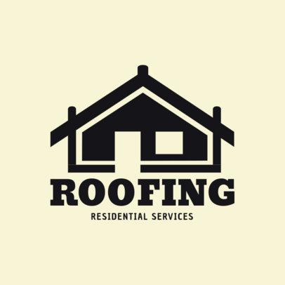 Roofing Logo Maker 1482