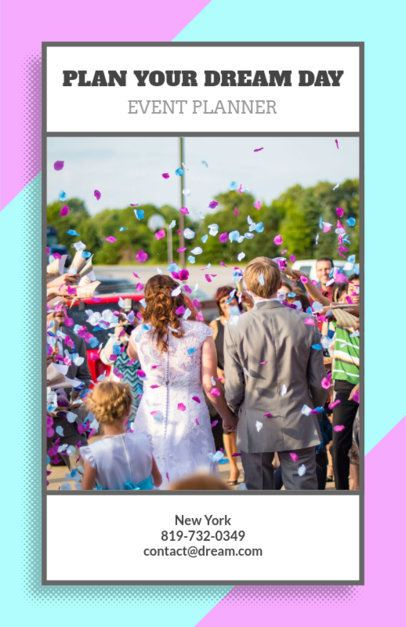 Event Planner Flyer Maker with Party Graphics 718a
