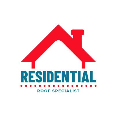Residential Roofing Logo Maker 1482a