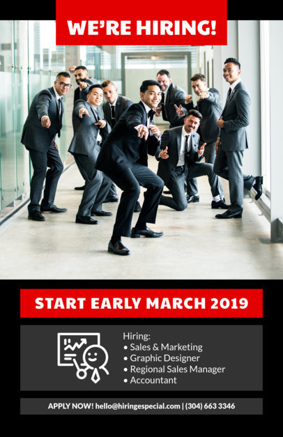 Recruitment Flyer Template for an HR Firm 726