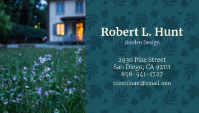 Business Card Maker for Garden Design with Flower Images 658a