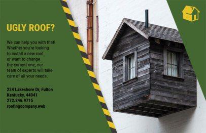 Horizontal Flyer Maker for Roof Remodeling 735d