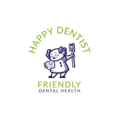 Dental Health Online Logo Maker with Happy Graphics 1488