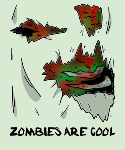 Zombie T-Shirt Design Maker 737b