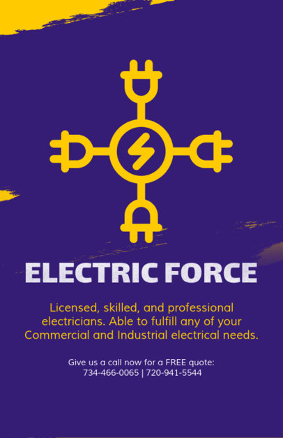 Electrician Company Flyer Template 728e