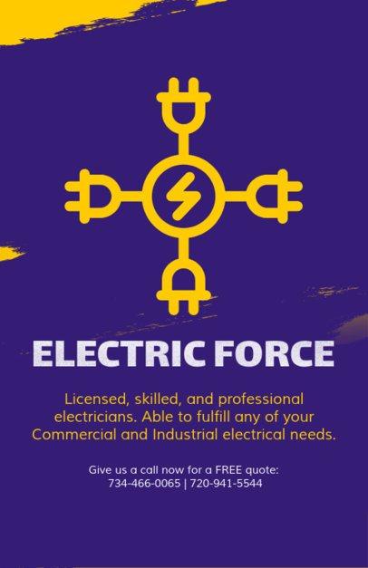 Electrician Company Flyer Template 728e
