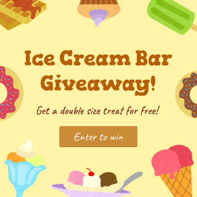 Insta Post Template for Ice Cream Giveaway 628b