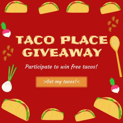 Instagram Post Maker for Taco Giveaway 628d