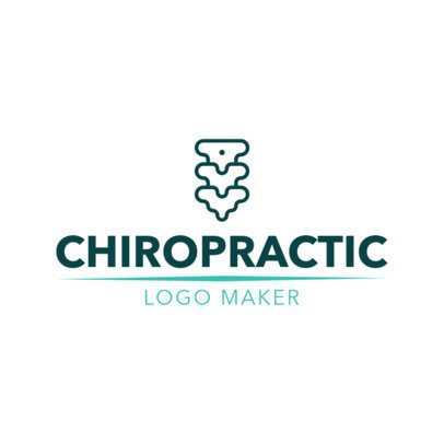 Chiropractic Logo  Creator with a Spine Symbol 1494