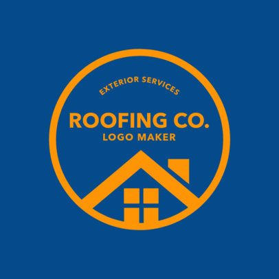 Logo Creator for Roofing Services 1484a