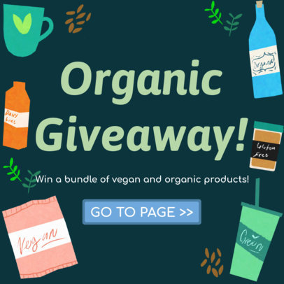 Vegan Product Giveaway Post Maker for Instagram 628c