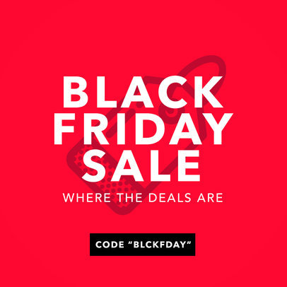Online Banner Maker for a Black Friday Sale 744