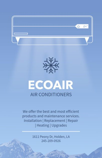 Flyer Template for Air Conditioner Company 709e