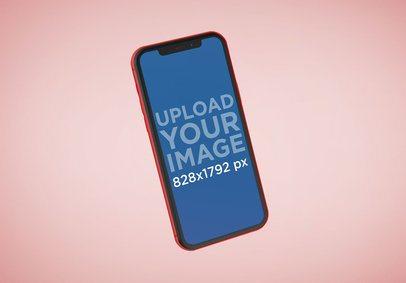 Red iPhone XR Render Mockup 23134