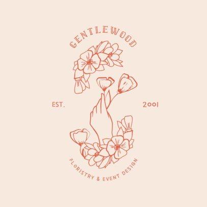Flower Logo Maker for a Floristry Business 1269b