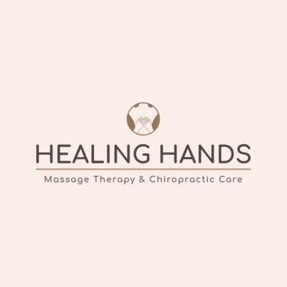 Chiropractic Therapy Logo Maker 1494d
