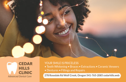 Advanced Dental Care Flyer Design Maker #489d