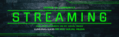 Streaming Banner Template for Twitch Channel 604e