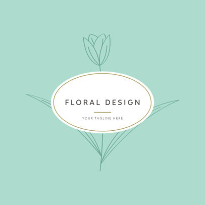 Logo Template for an Online Flower Store with Flower Icons 1270c