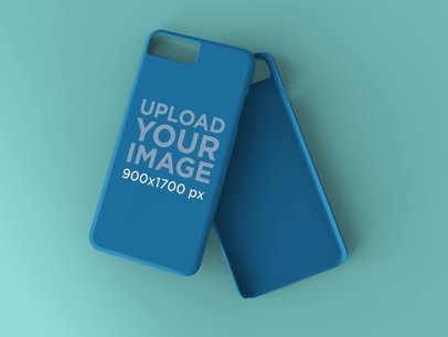 Mockup of an iPhone Case Lying Over Another Case 23164