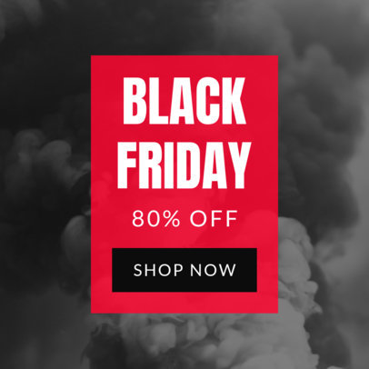 Ad Maker for an 80% Discount Black Friday Sale 752