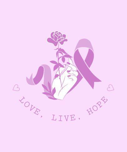 T-Shirt Design Maker for Breast Cancer Support 738b