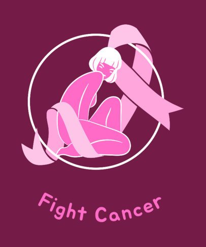 Cancer Support T-Shirt Design Maker 738f