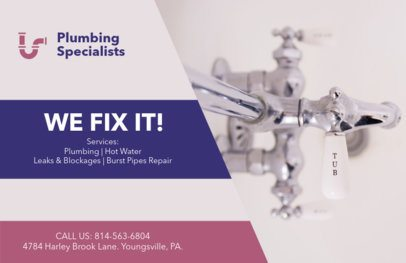 Plumbing Specialists Horizontal Flyer Template 727a