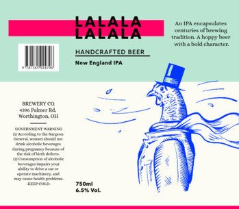 Beer Label Template for a Cool Craft Beer 763