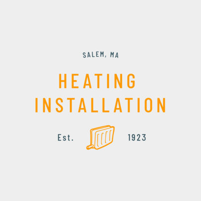 Heating Installation Logo Generator 1503a