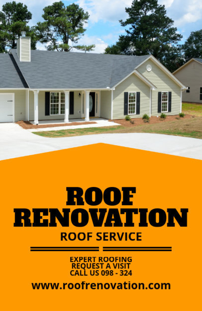 Roof Renovation Flyer Maker 708b