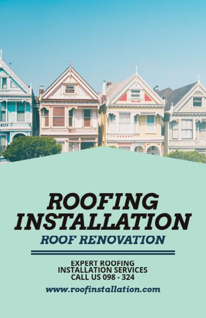 Flyer Template for a Roofing Installation Company 708c