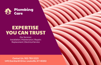 Flyer Design Template for Plumbers 727d